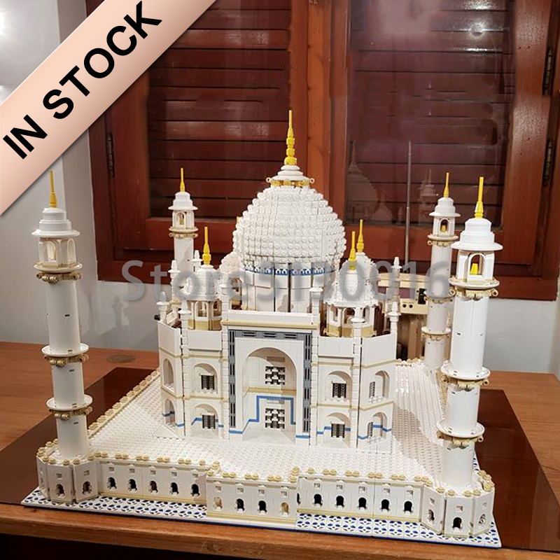 17008 In Stock  The Taj Mahal Architecture set CREATOR 3508PCS Model Building blcoks bricks Toys Compatible with 10256