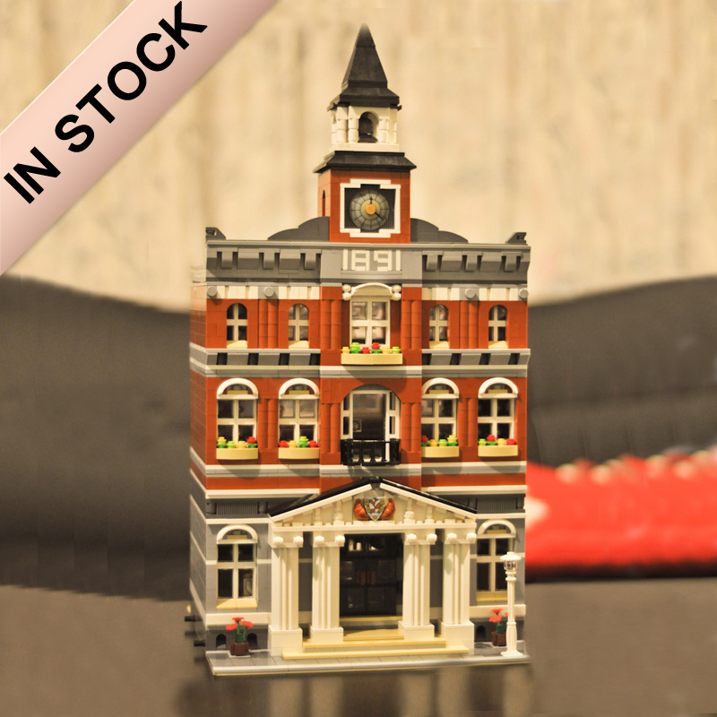 10224 In Stock Creator The City Hall House 15003 2766Pcs Street View Model Building Blocks Bricks 84003 15001 30014 99011 Toys