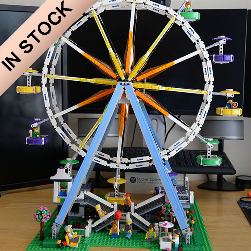 In Stock 10247 Creator Ferris Wheel 15012 2478Pcs Street View Model Building Blocks Bricks Toys 84012 1218 30000
