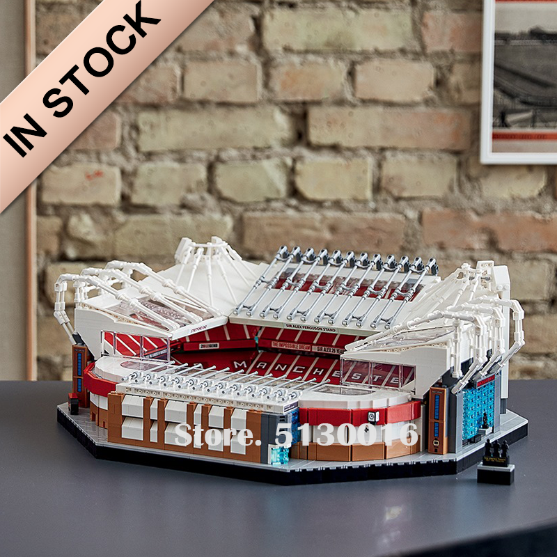 In Stock 10272 MOC Old Trafford Manchester United 10202 3898PCS Creator City Street View Model Building Blocks Toys
