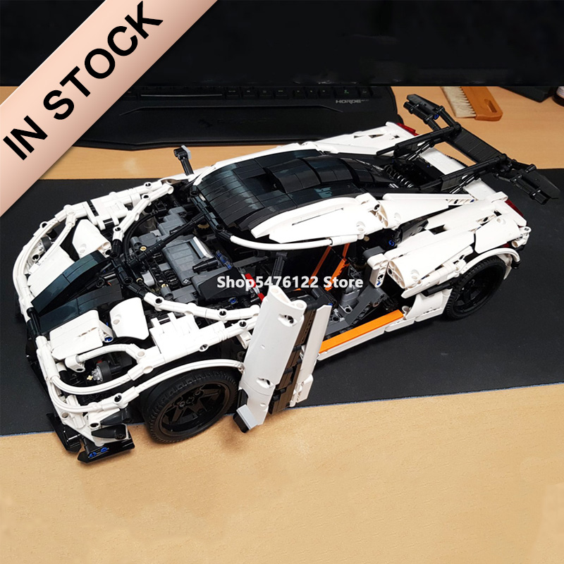 In Stock 23002 Super Sports Racing Car Model City Race The MOC-4789 Koenigsegg One:1 Technic 3236pcs Building Blocks Bricks