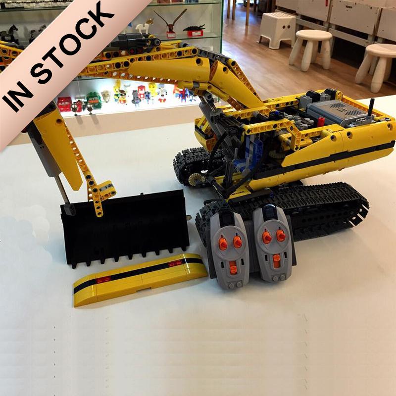 In Stock Technic Motorized Excavator 8043 20007 Building Block 1123Pcs Bricks 90007 Electric Remote Control Model Gifts