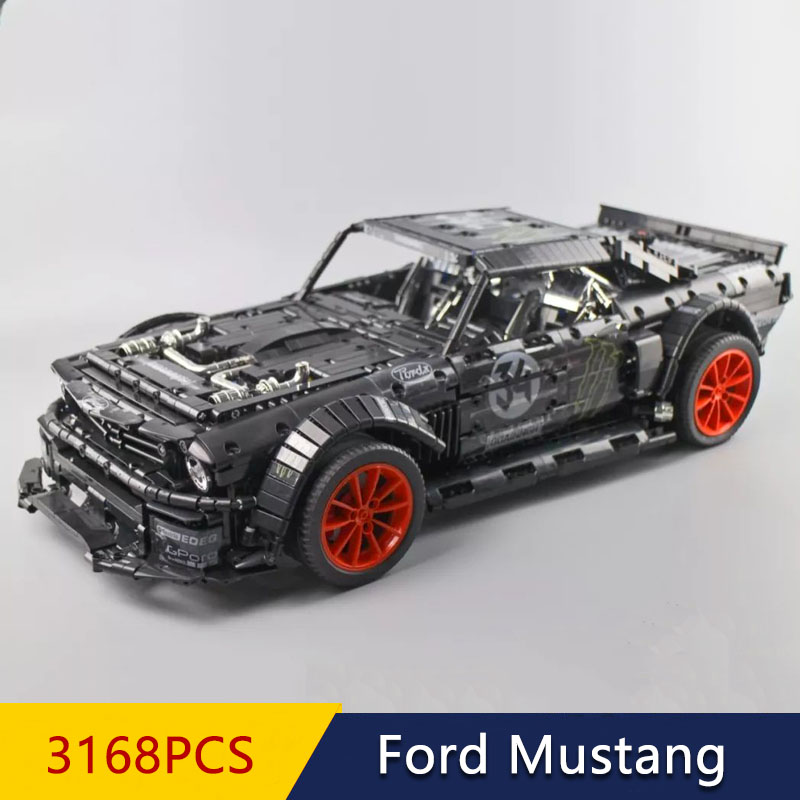 In Stock Science and technology mechanical racing series Ford Mustang Hoonicorn 2975PCS Building Blocks bricks Toys MOC 33003 23009